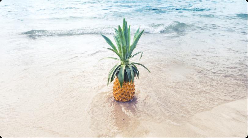 ananas sur la plage