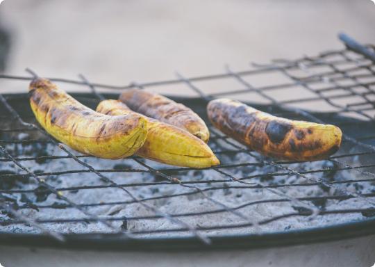 bananes grillées de guadeloupe